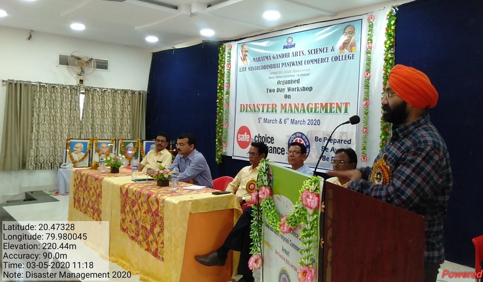 Disaster Management Workshop 05 & 06 March 2020