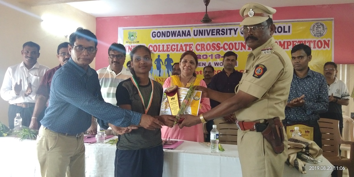 Gondwana University Inter-Collegiate Cross Country Winner 2019-20