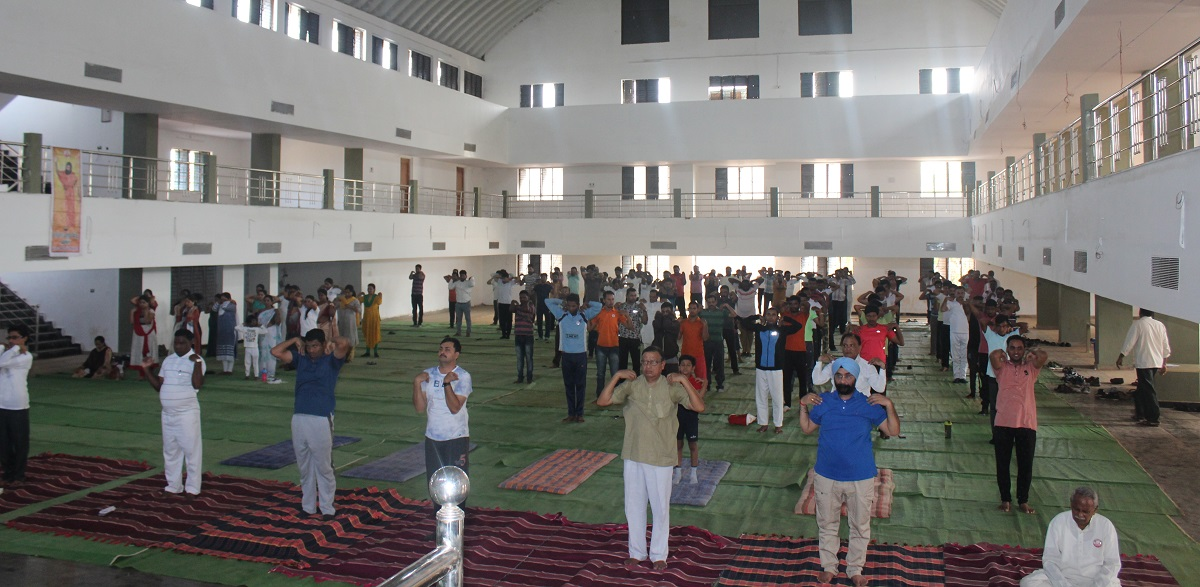 Practicing Yoga on Yoga Day 21.06.2019